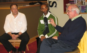 Steve Taber, Marcus Woodswelch, Fred Sebulske at Schuler Books