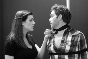 "Ellie Frances and Kyle Los star in the Actors' Theatre production of ""Venus in Fur."" Photo credit: Dave Kagan"