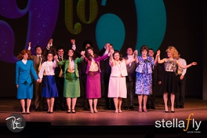 The cast of 9 to 5, the musical at Grand Rapids Civic Theatre. Photo credit: Byan Esler of stellafly